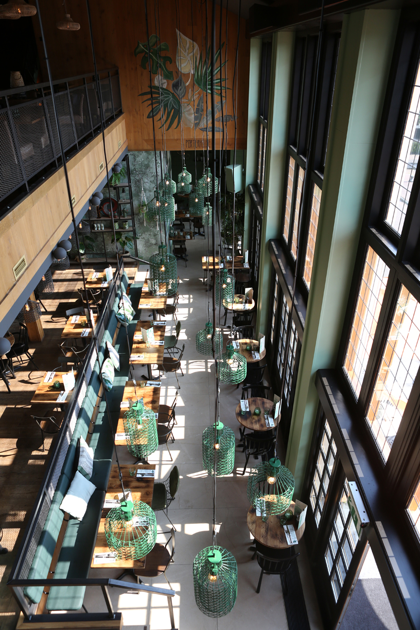 bovenaanzicht restaurant porterhouse